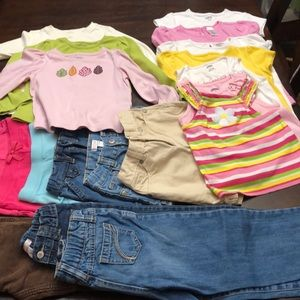 Lot of 19 mostly Gymboree girls 5/5T clothing